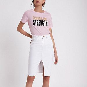 T-shirt à imprimé FTBC rose