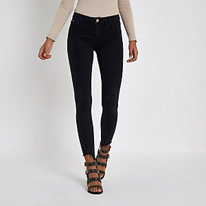 Washed black Molly skinny fit jeggings