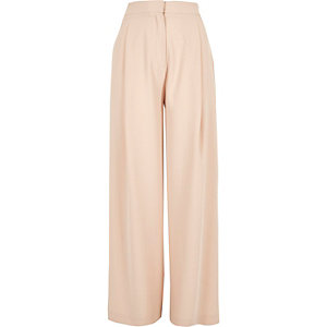 Light pink swirl tape wide leg trousers