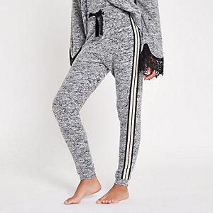 Grey marl tape pyjama joggers