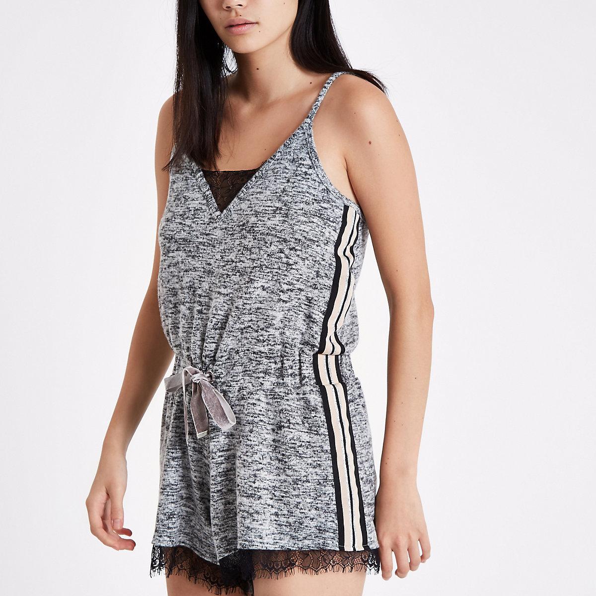 Grey marl loungewear playsuit