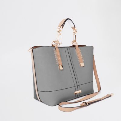 River Island Grey Tote Bag