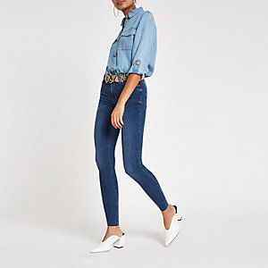 Molly – Mittelblaue Jeggings