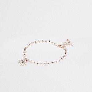 Rose gold ball chain bracelet