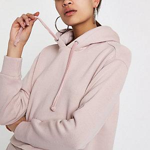 Light pink loose fit hoodie