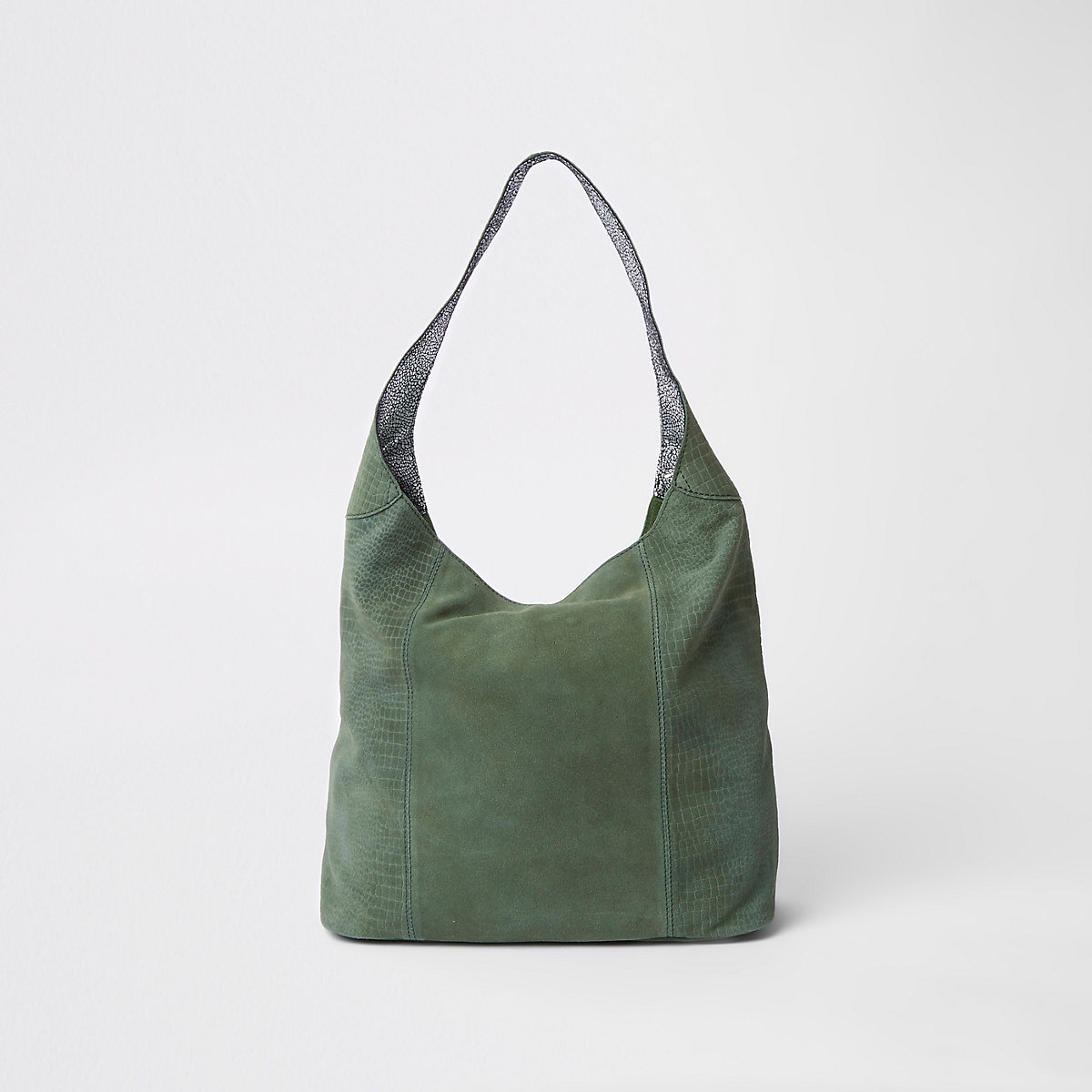 85e02abc8f Dark green leather metal ring slouch bag - Shoulder Bags - Bags   Purses -  women