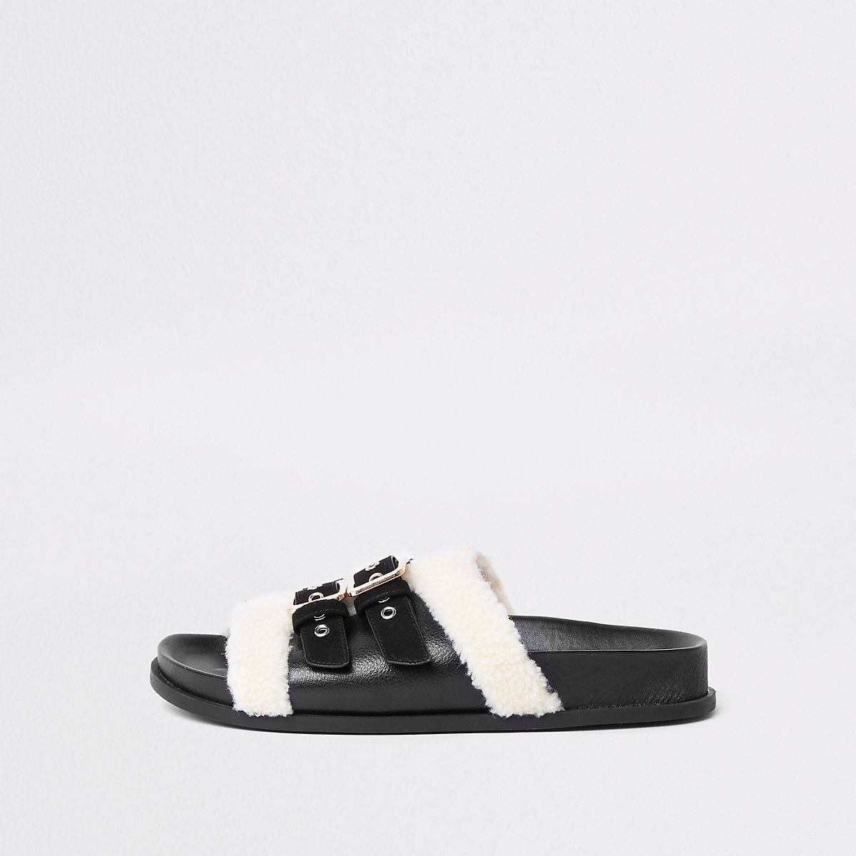 Black wide fit buckle sliders
