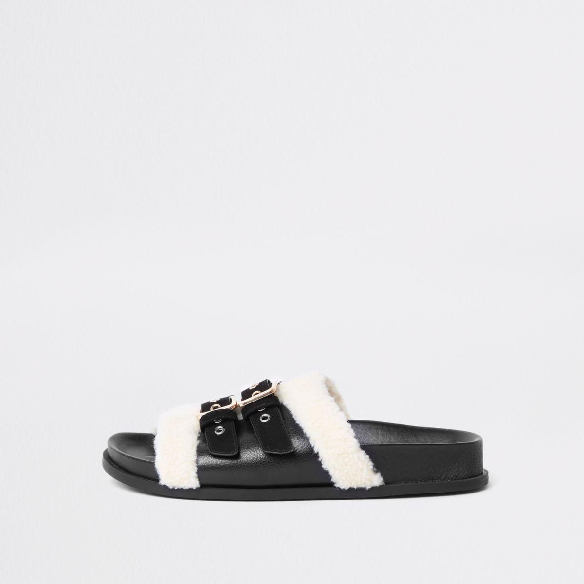 Black wide fit buckle sliders