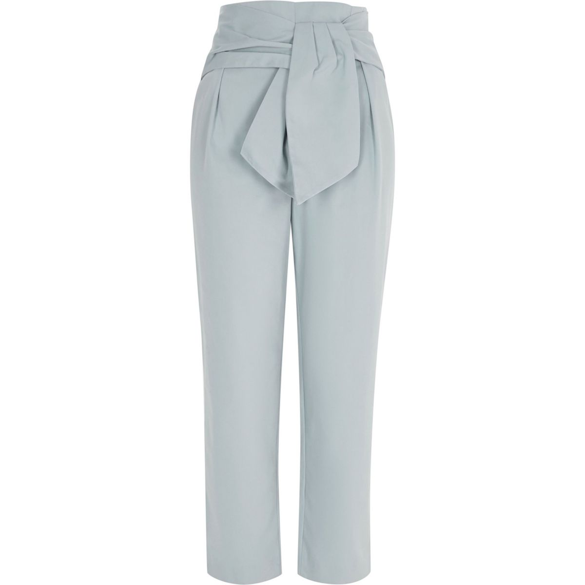 Blue Tie Front Peg Trousers by River Island