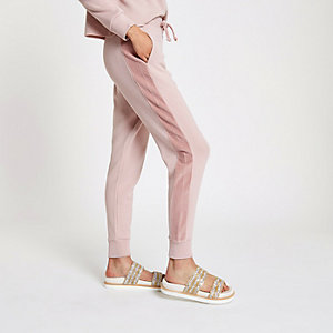 Pantalon de jogging ample rose clair