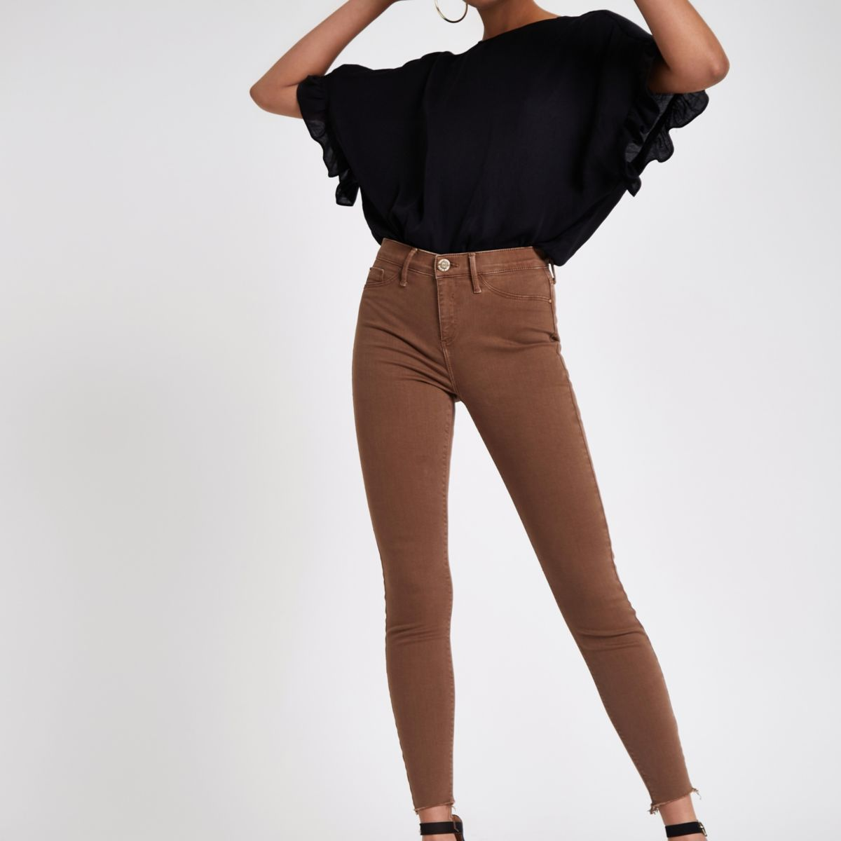Brown Molly mid rise jeggings