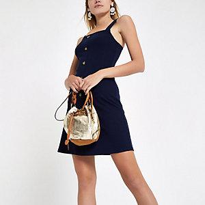 Marineblaues Bodycon-Kleid