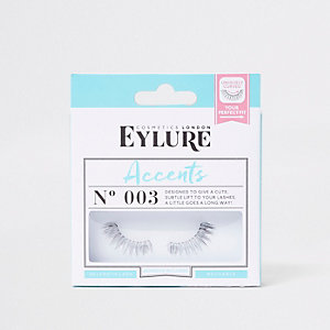 Black Eylure accent false eyelashes No.003