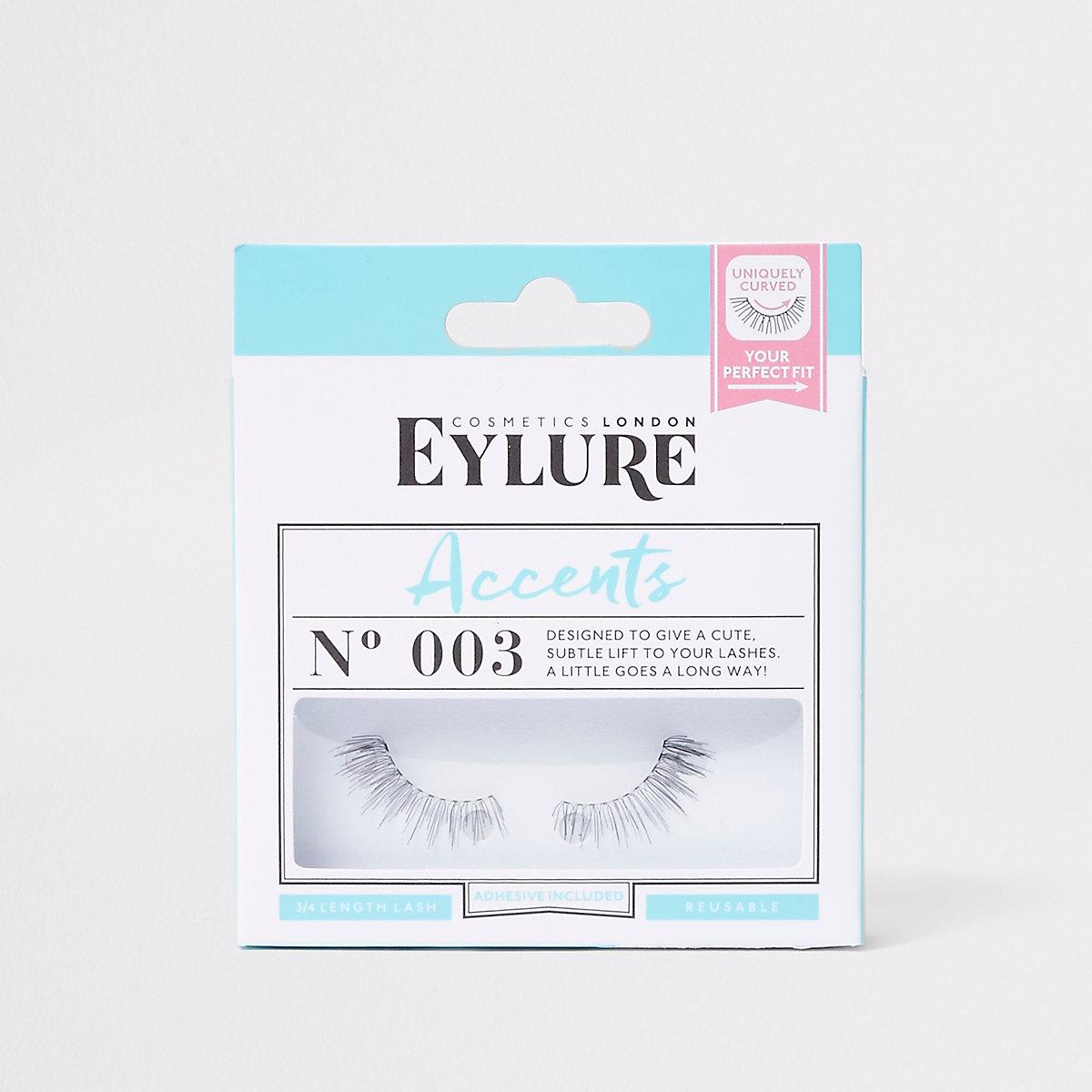 Black Eylure accent false eyelashes No.003
