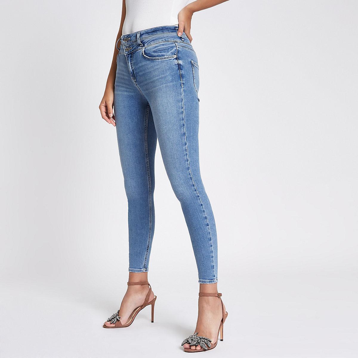 Blue Harper high rise super skinny jeans