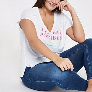 Plus white 'Toui est' T-shirt