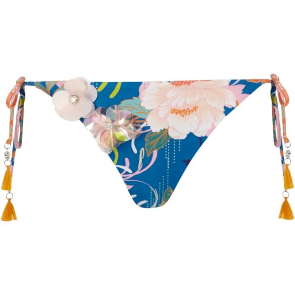 River Island - Blue floral embellished bikini bottoms - 5