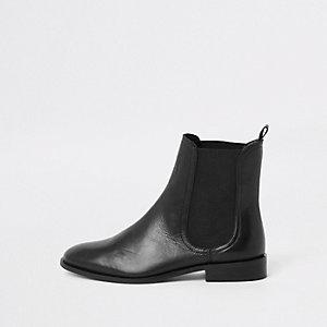 Zwarte chelsea boots van imitatieleer