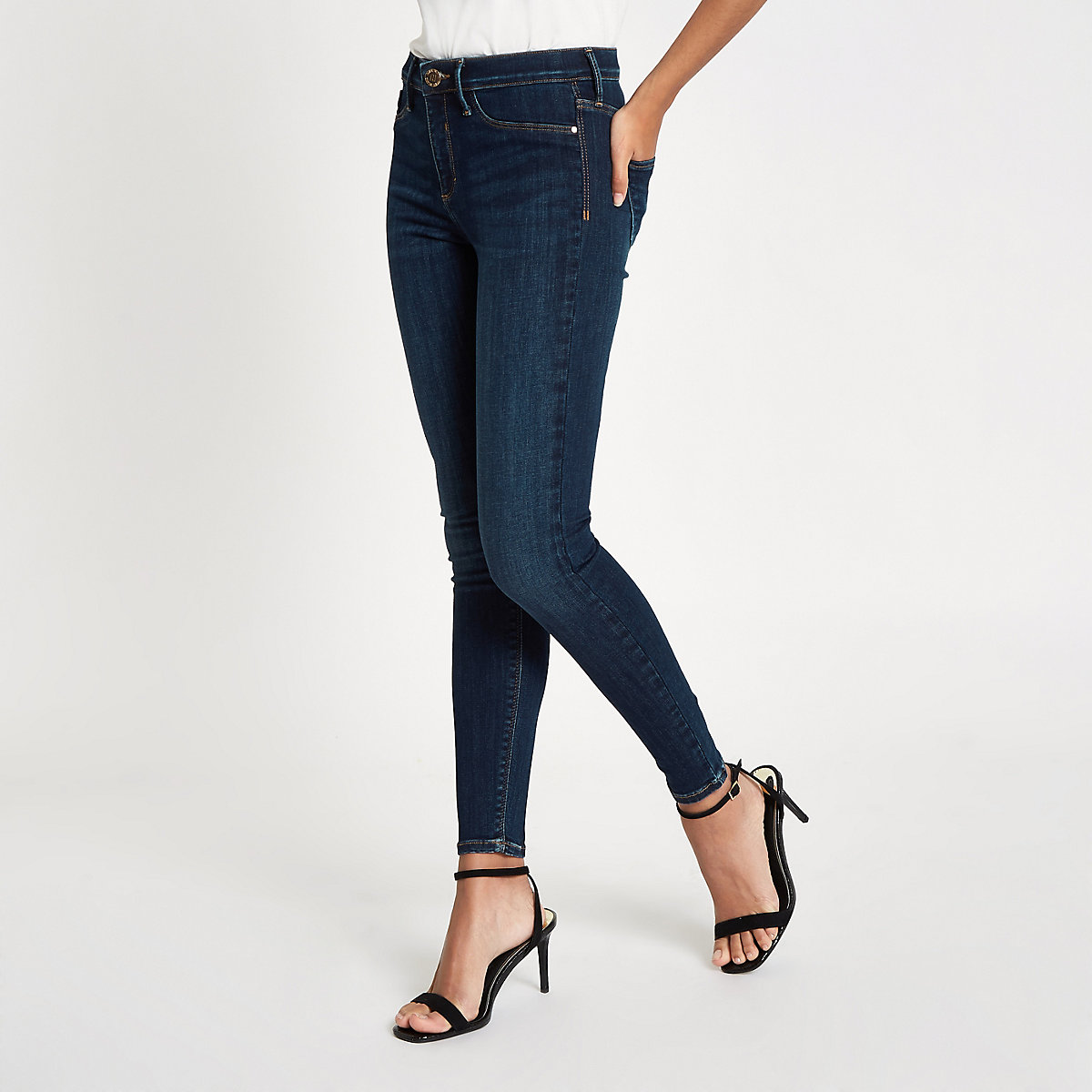 Dark blue Molly mid rise jeans