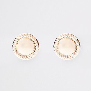 Gold tone over sized clip on earrings