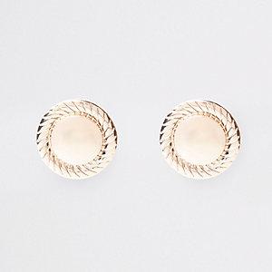 Boucles d'oreilles oversize dorées à clips
