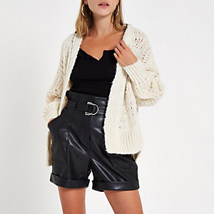 Cream knitted stitch cardigan