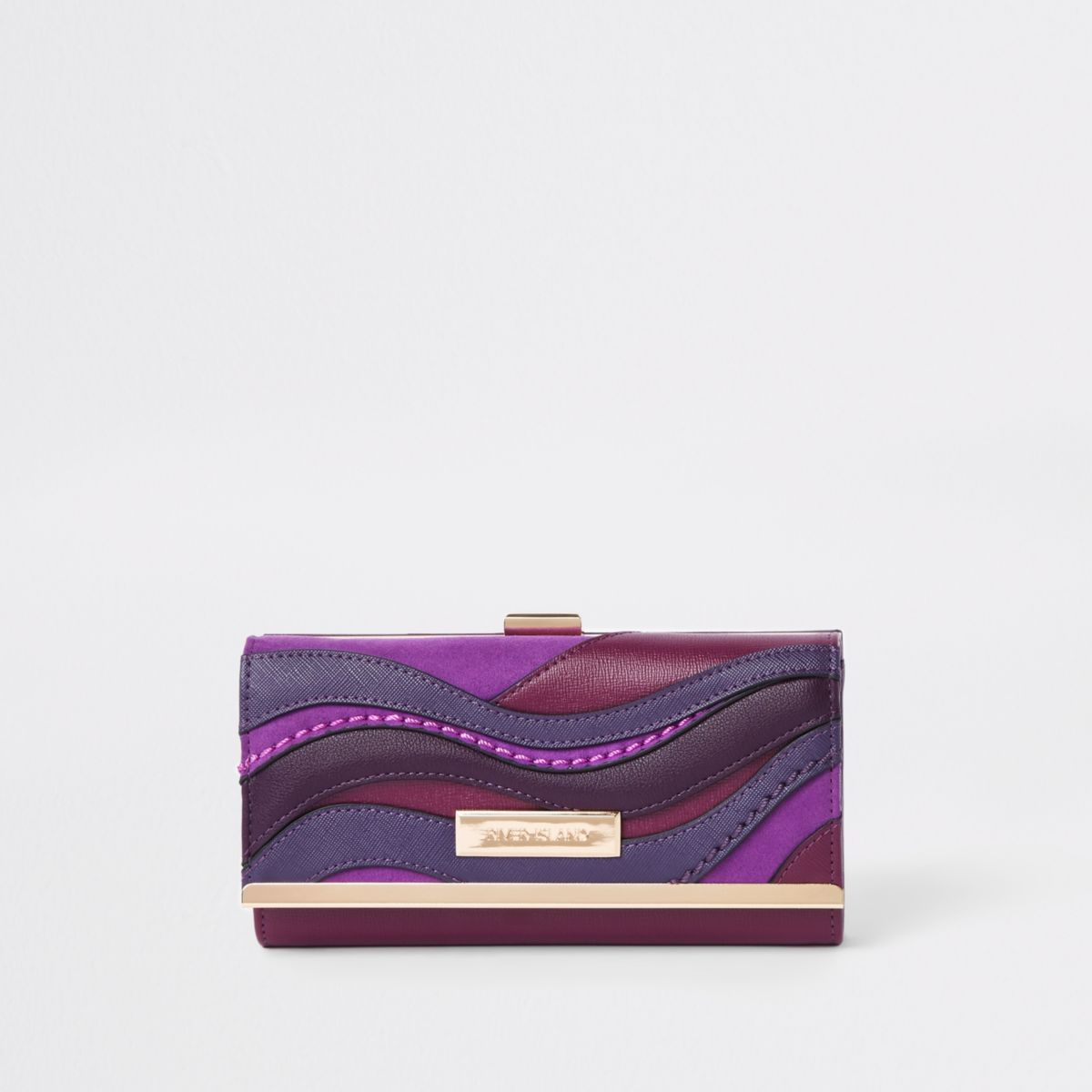 Purple swirl cutabout clip top purse