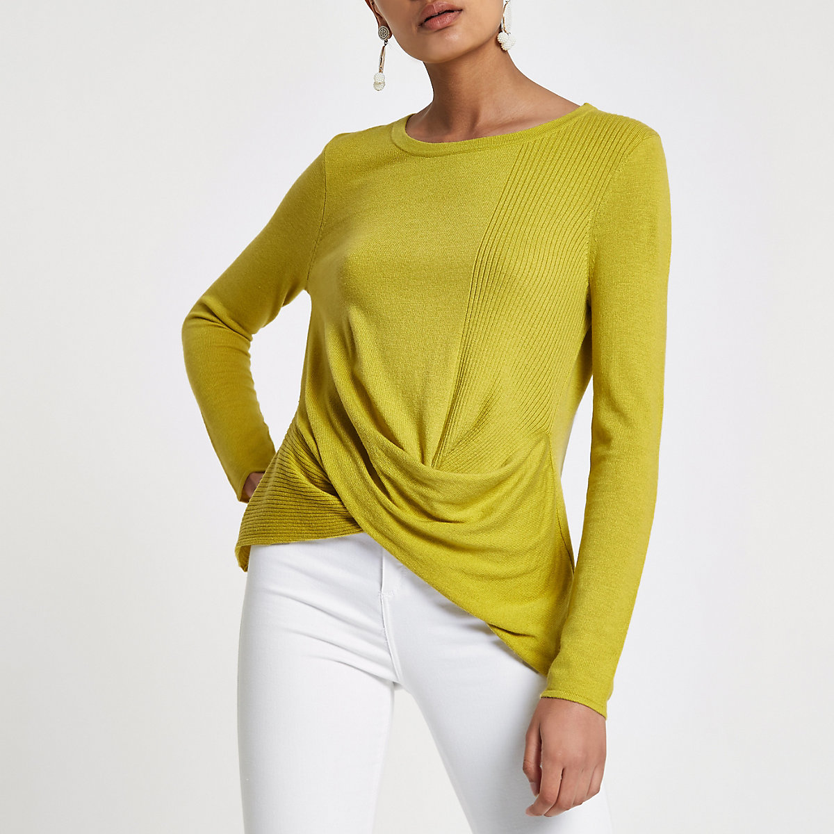 Lime twist front top
