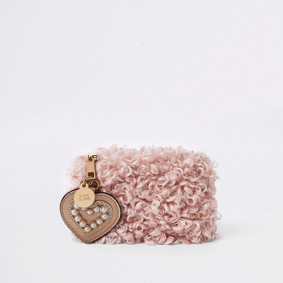Pink borg pouch purse