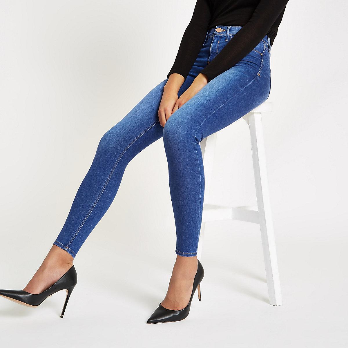 Molly – Jegging en jean bleu taille mi-haute
