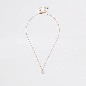 Korte metalen ketting met hanger