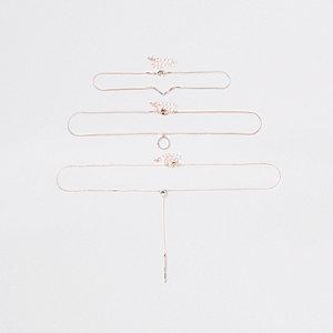 Roségoudkleurige kettingset met hanger