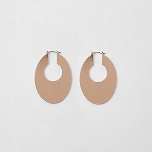 Goudkleurige ovale oorringen