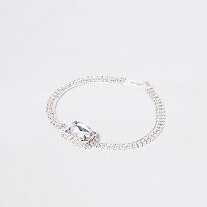Silbernes Armband mit Schmuckstein