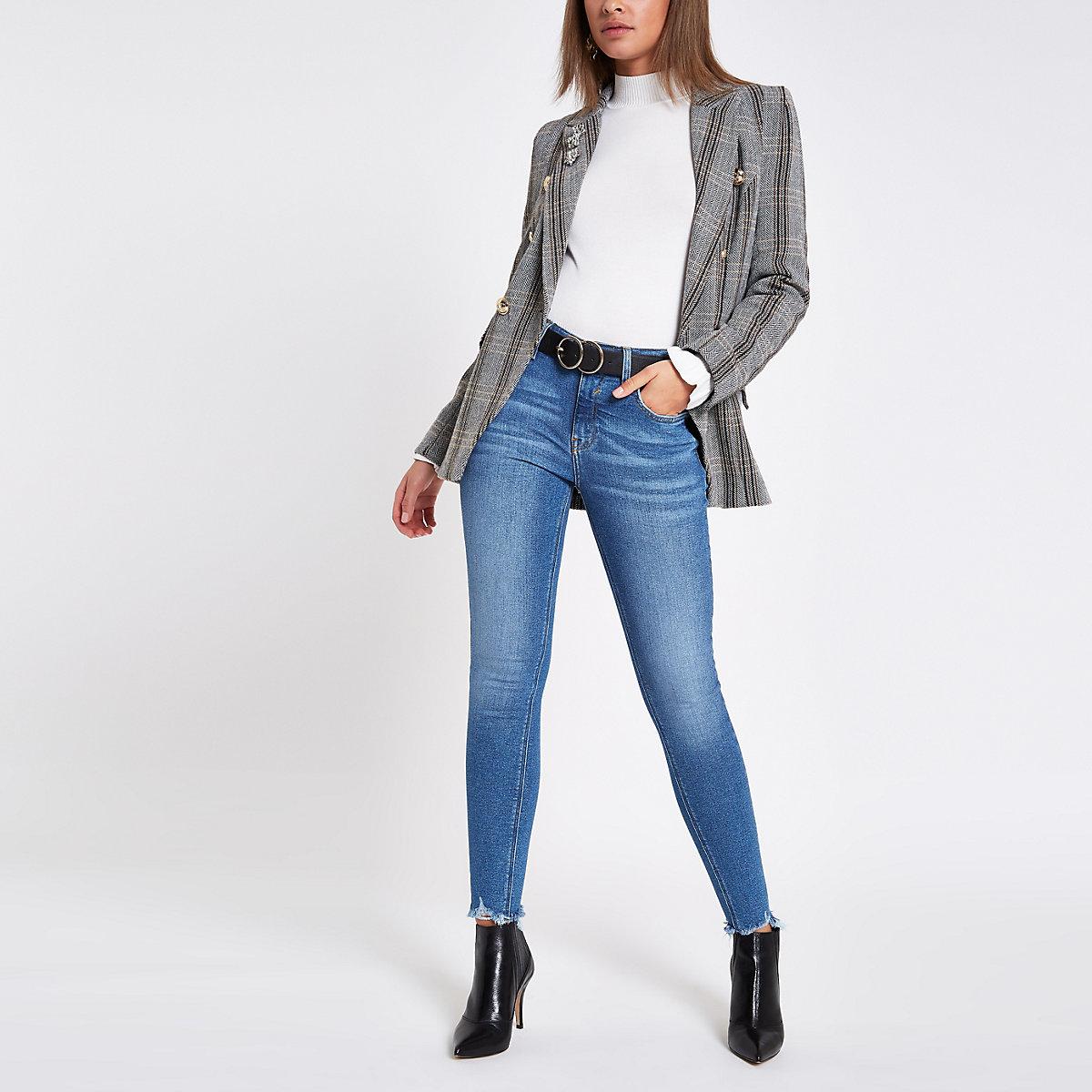 Mid blue denim Amelie super skinny jeans