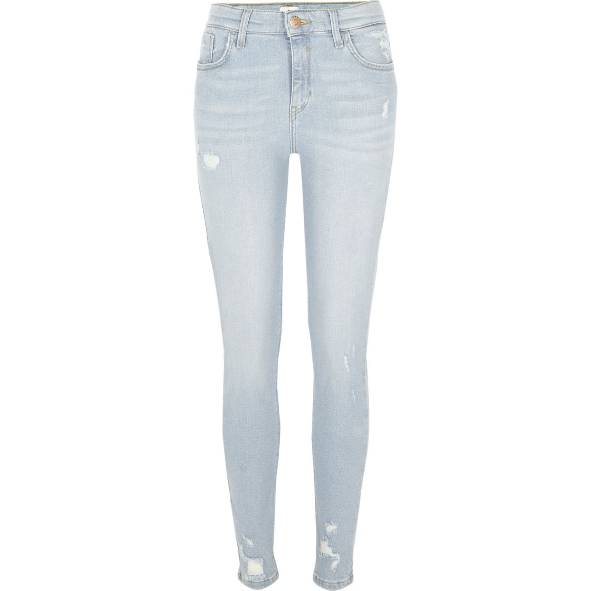 super Blue skinny ripped Amelie jeans qzBBTOS
