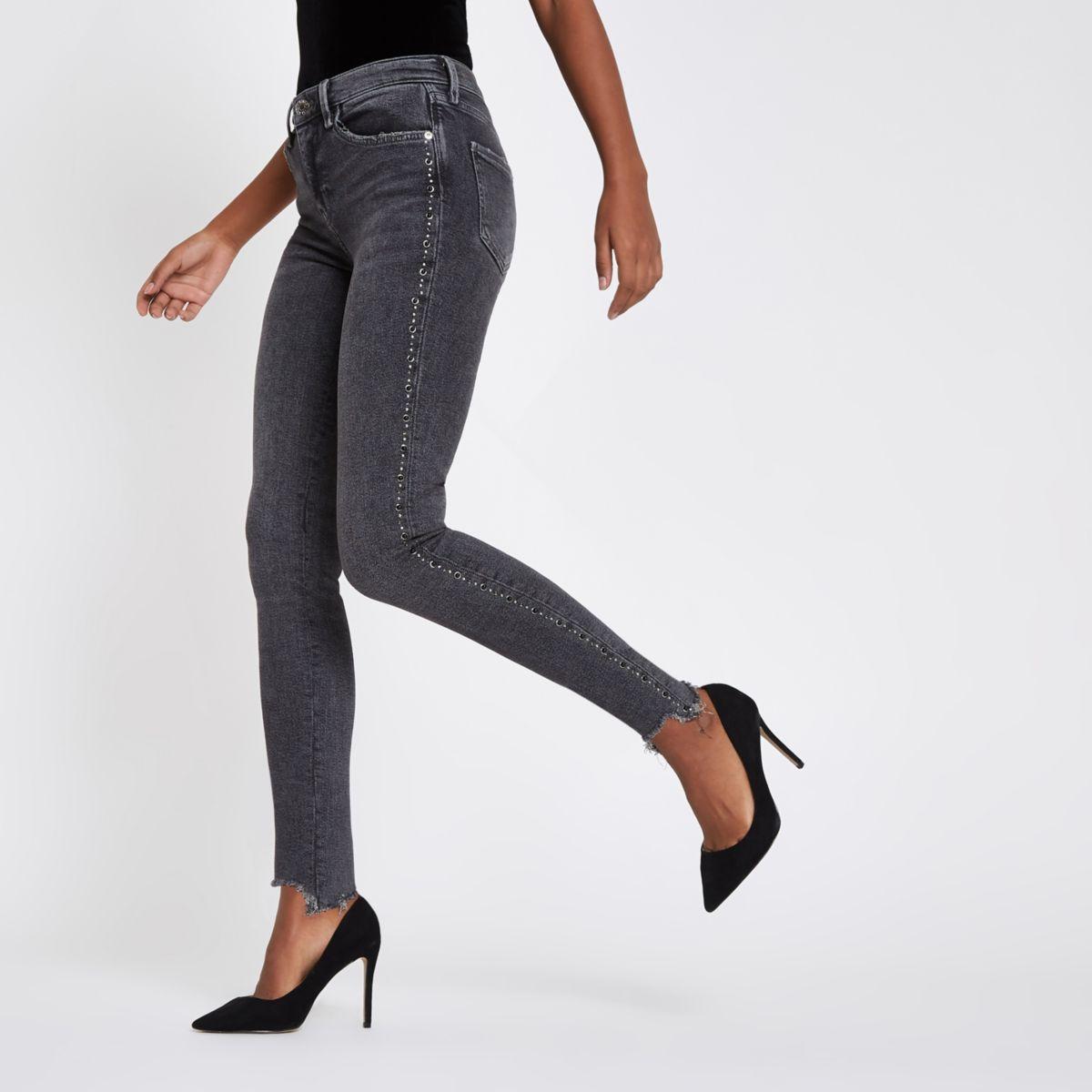 Grey Rl Amelie super skinny jeans