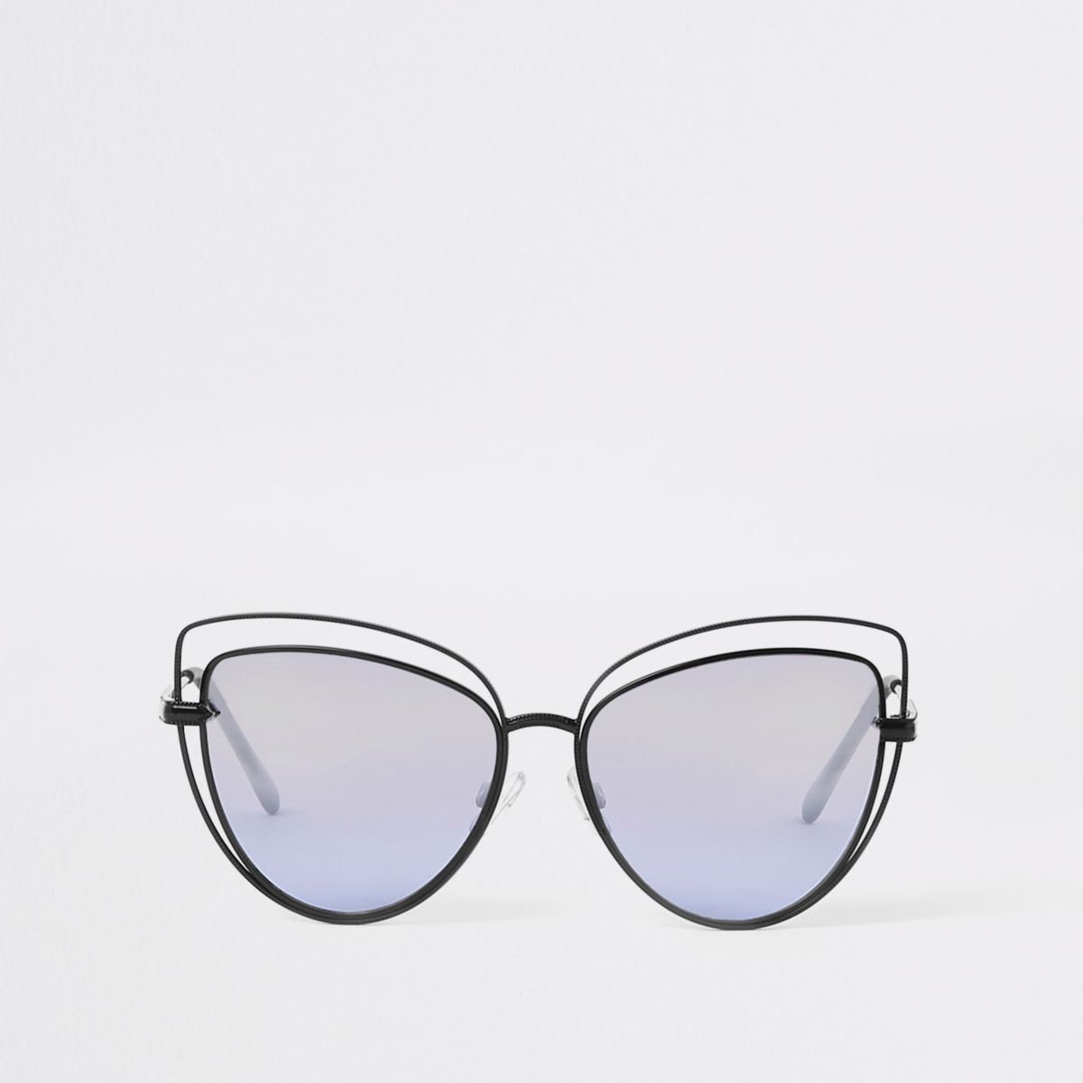 Black cut out cat eye sunglasses