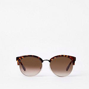 Bruine zonnebrillen met schildpad effect