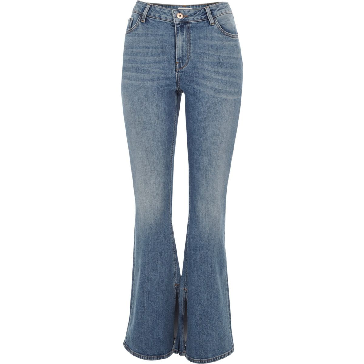 jeans Petite Petite blue wash Petite wash flared blue flared jeans Bqtxd