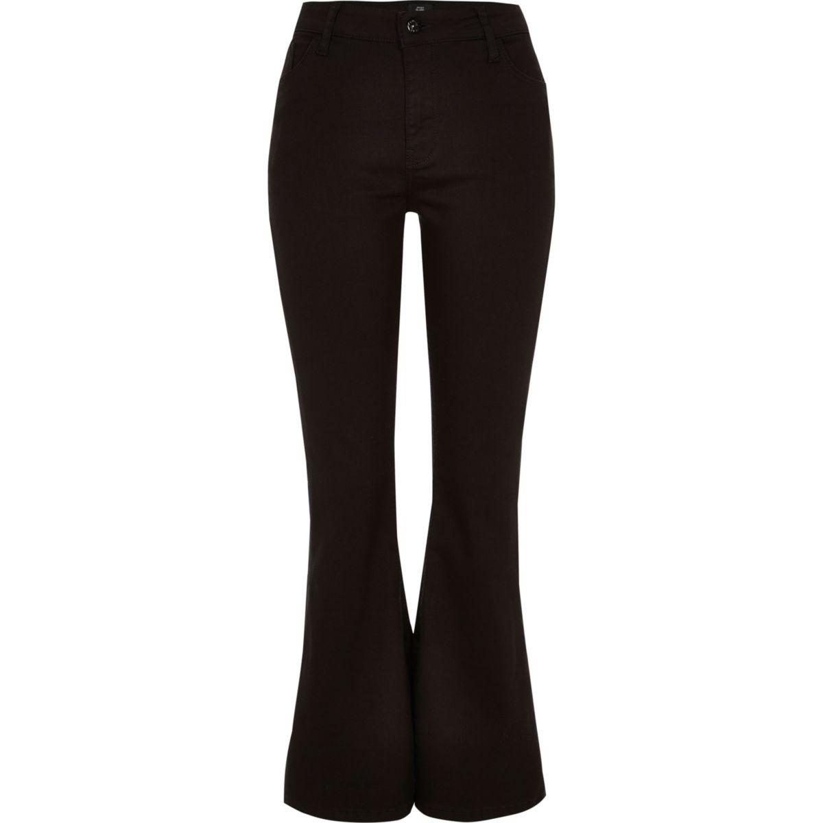 jeans high flare rise Petite black gqTq1