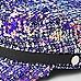 Grey tweed sequin baker boy hat