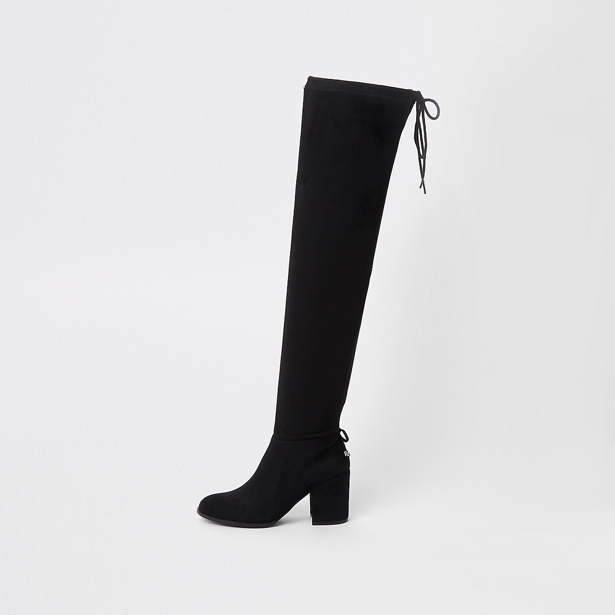 Black faux suede over the knee boots - Boots - Shoes   Boots - women 1993d0b83