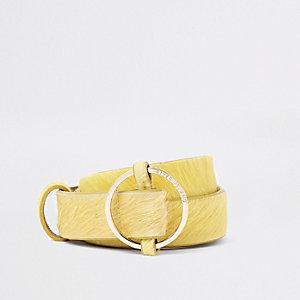 Gelber Jeansgürtel aus Leder