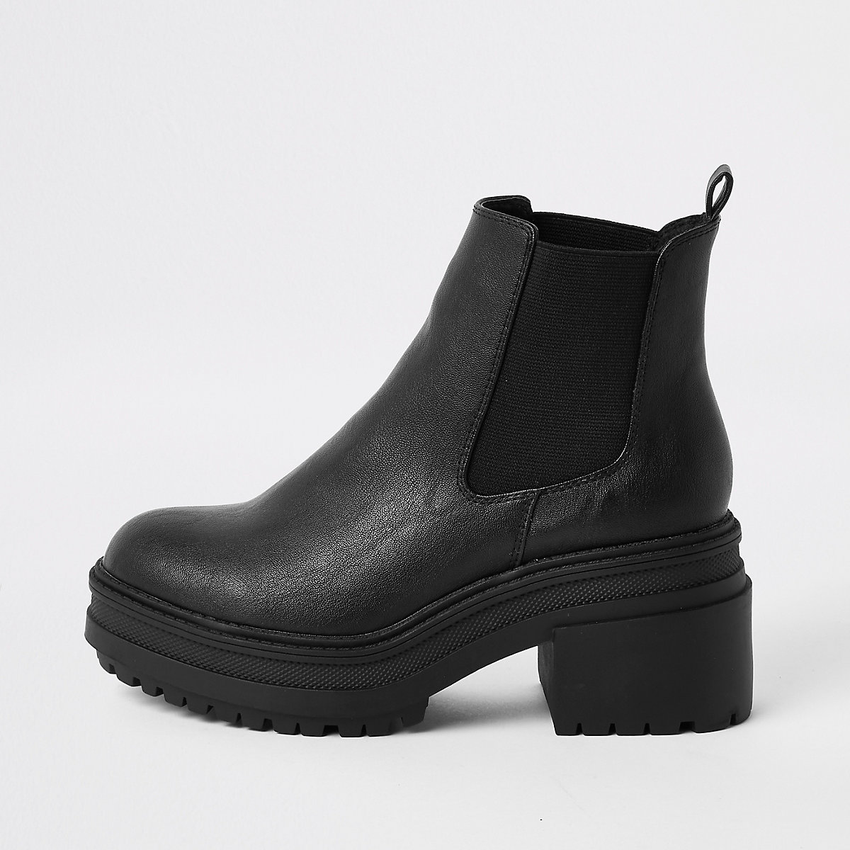Black chunky chelsea boots - Boots - Shoes & Boots - women