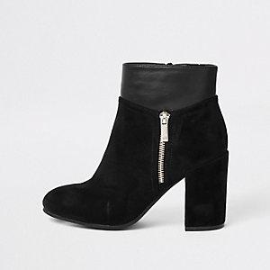Zwarte laarzen met blokhak