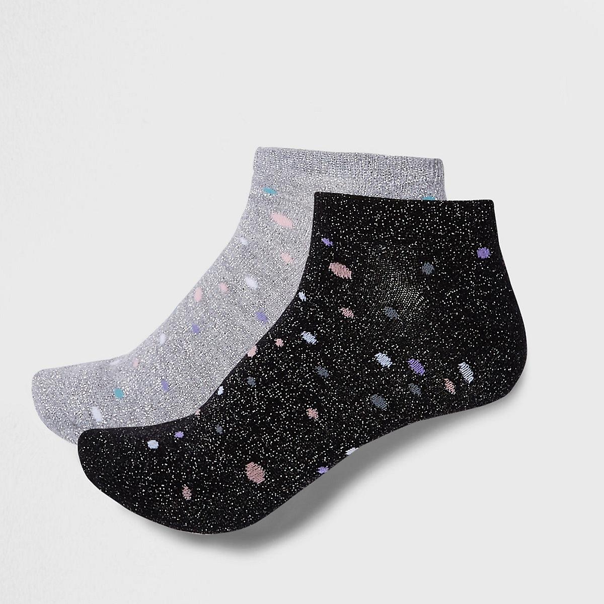 Silver spot sneaker socks multipack