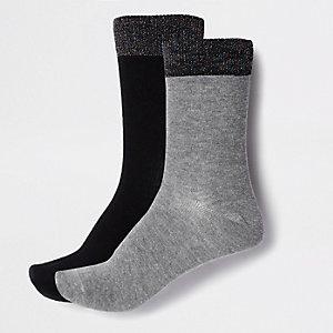Lot de socquettes grises pailletées