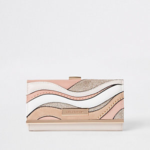 Pink cutabout clip top purse