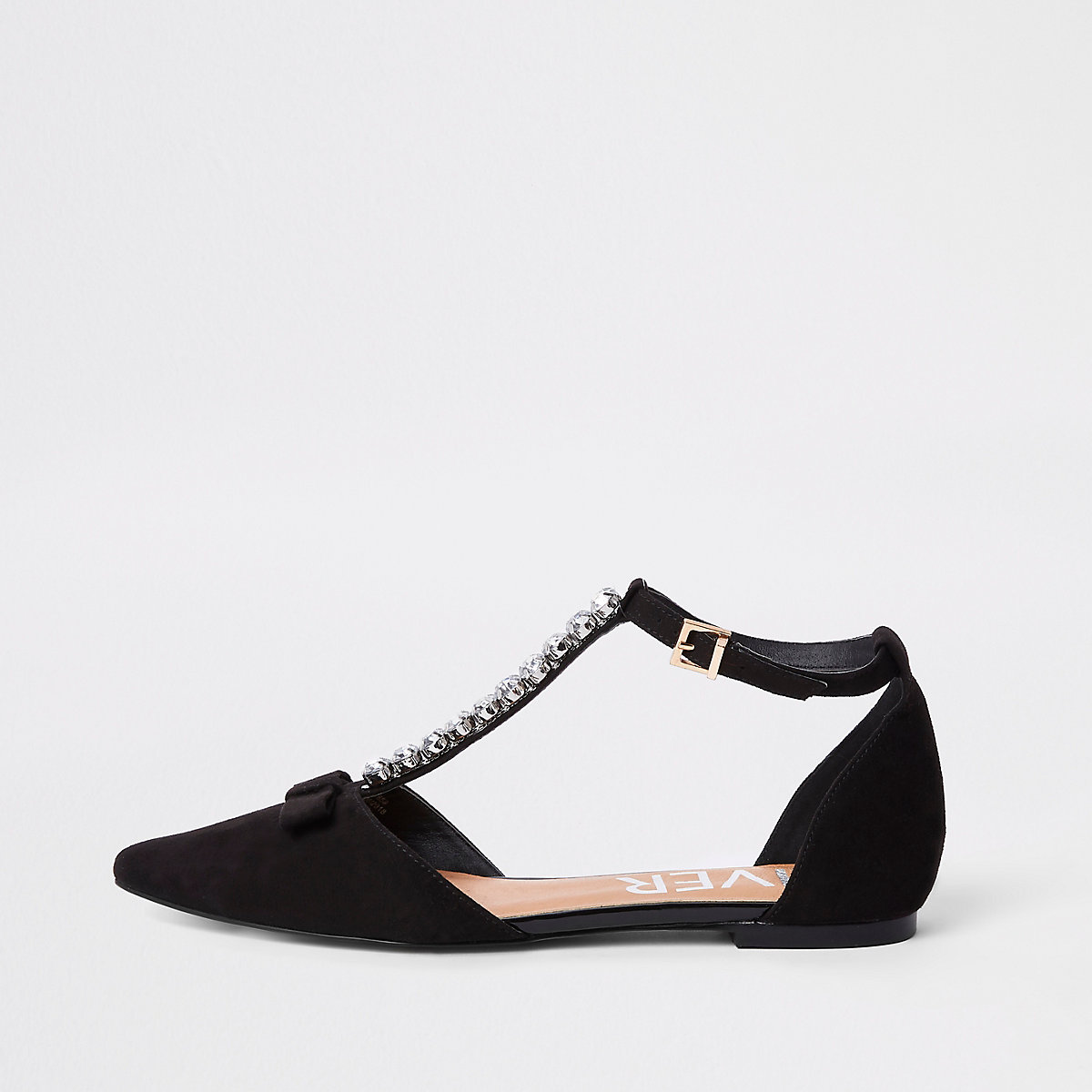 Black jewel pointed strappy shoes - Shoes & Boots - Sale - women
